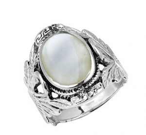 AERAVIDA-couple-swan-silver-ring