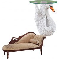 elegantly-matching-swan-chair-and-table-for-living-room